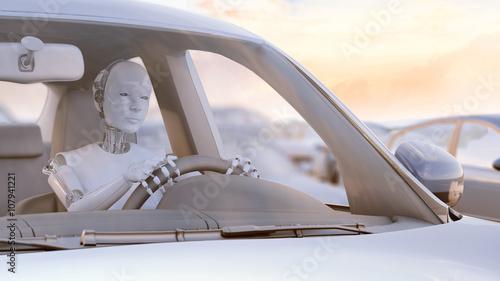 Fotografia, Obraz  Robot stuck in a traffic jam