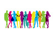 Silhouettes couleurs-groupe