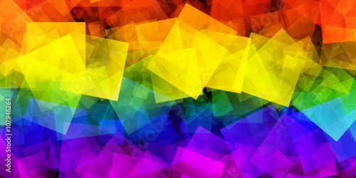 LGBT Flag With Gradient Squares Effect Fototapeta