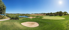 Panorama Of A Golf Course Sand...