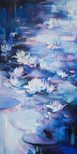 Oil Painting On A Water Lily I...