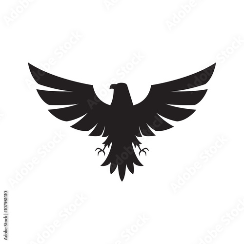 Illustration of eagle Icon isolated on a white background Fototapet