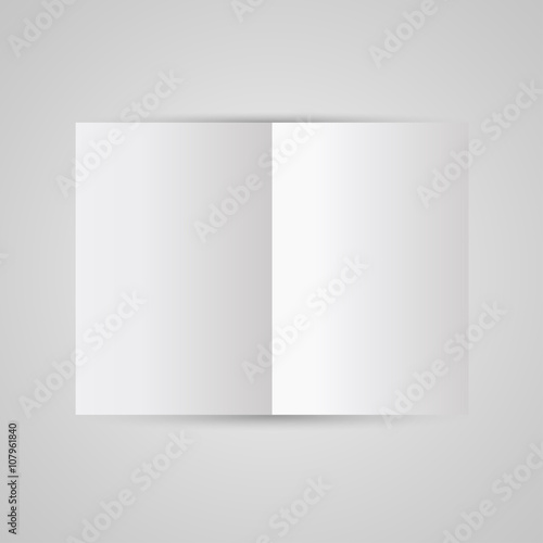 magazine blank page template for design layout vector illustration