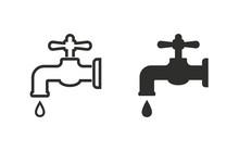 Faucet - Vector Icon.