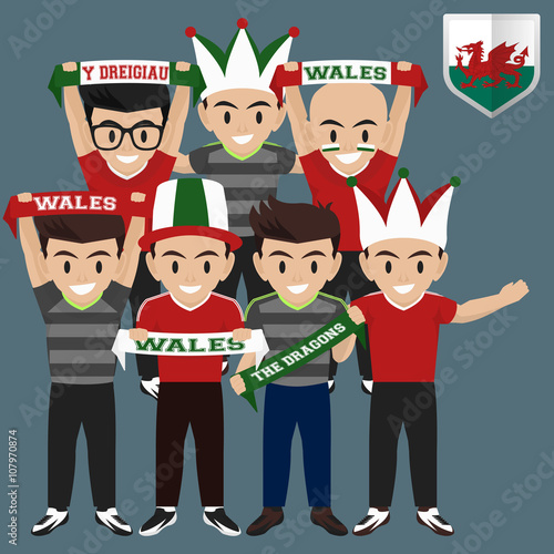 Soccer / Football Supporter / Fans from Wales Wallpaper Mural