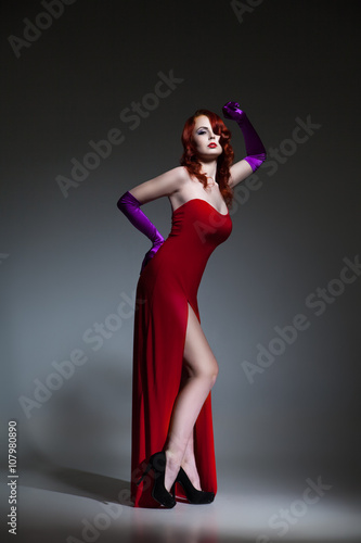Woman Dressed Like Jessica Rabbit Buy This Stock Photo And Explore