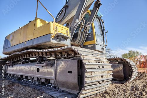 Fotografía  Industrial Heavy Equipment machine excavator road street jobsite