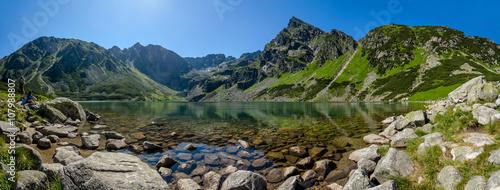 "Photo  Panoramic view of the Black Pond ""Czarny Staw"", High Tatras, Poland"