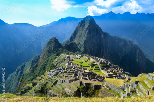 Photo Stands South America Country Machu Picchu
