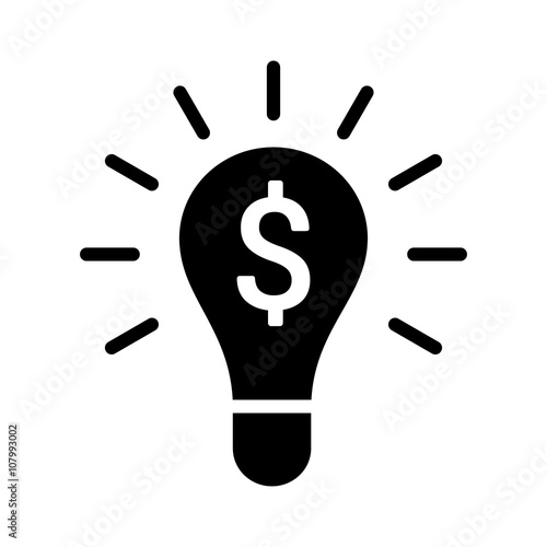 Money making idea or entrepreneur idea flat icon for apps and websites Canvas Print