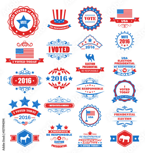 Fotografija  Objects and Symbols for Vote of USA