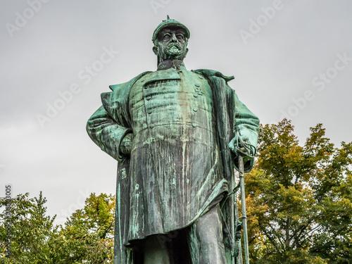 Fotografering Statue of Otto von Bismarck in Luebeck, Germany