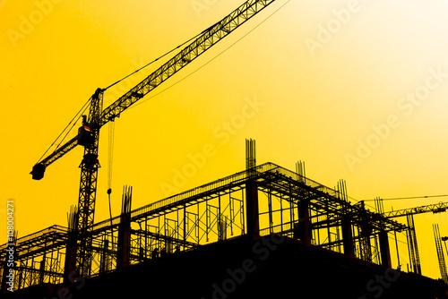 Fotografía  Construction Site silhouettes