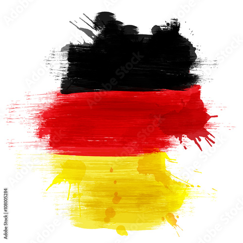 Canvas Print Grunge map of Germany with German flag