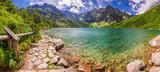 Fototapeta Natura - Panorama of pond in the Tatra mountains, Poland