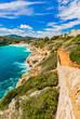 Beautiful coastline landscape bay Majorca Spain