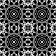 Abstract detailed black and white seamless background. Vector illustration