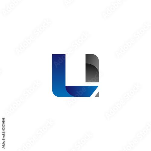 Photo Modern Simple Initial Logo Vector Blue Grey Letters li