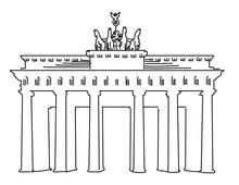 Brandenburger Gate Berlin, Vec...