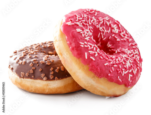 donut isolated on white Fototapet