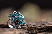 Ring With Glass Stones