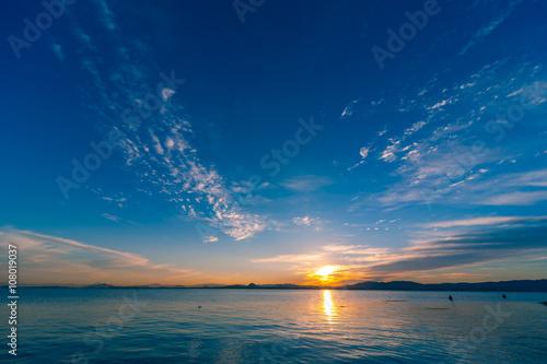 Obraz na płótnie 琵琶湖畔の朝