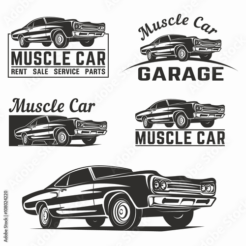 Muscle Car Vector Logo Emblem Buy This Stock Vector And Explore