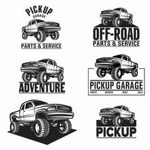 Car Truck 4x4 Pickup Off-road Logo