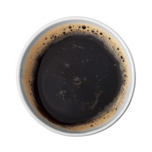 Paper Cup Of Coffee Top View