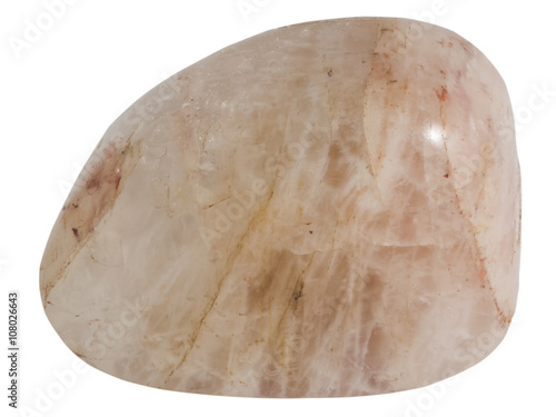 piece of moonstone mineral macro, isolated on white background Tapéta, Fotótapéta