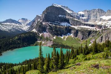 Glacier national park montana mountains and lakes