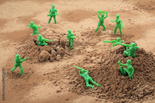 war toy soldiers Canvas
