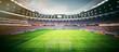Leinwandbild Motiv Fussball Stadion am Nachmittag - soccer stadium at the afternoon