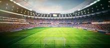 Fussball Stadion Am Nachmittag...