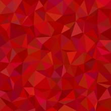 Red Irregular Triangle Mosaic Background Design