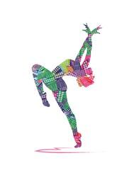 Naklejka abstract dancer silhouette