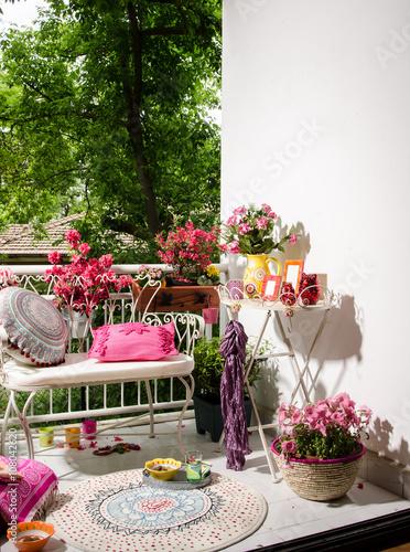 Fotografie, Obraz  beautiful balcony or terrace concept