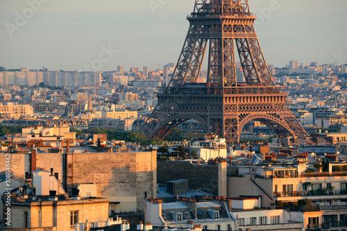 Pinturas sobre lienzo  Paris rooftop view