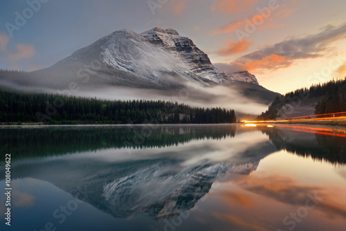 Aluminium Prints Lake sunset