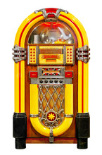 Jukebox Isolated. Clipping Path Included.