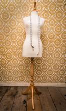 Mannequin Dress Form And Tape Measure Vintage  Background