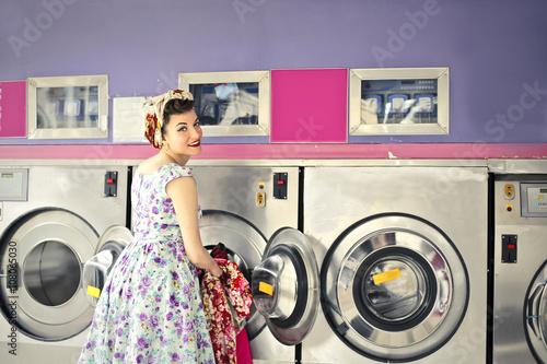 Fotografie, Obraz  In the laundry room
