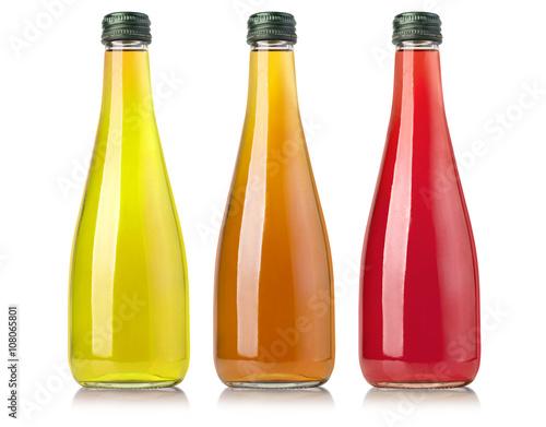 Poster Sap Juice bottle on white