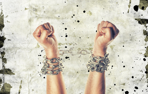 Fotomural Two hands in chains