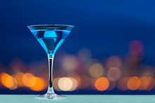 Glass Of Martini Standing Agai...
