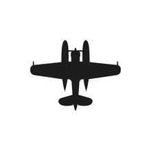 Simple Black Float Plane Icon ...
