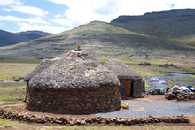Traditional Style Of Housing In Lesotho Is Called A Rondavel.The Rondavel's Walls Are Often Constructed From Stones.The Roof Itself Is Made Out Of Thatch That Is Sewn To The Wooden Braces With Rope
