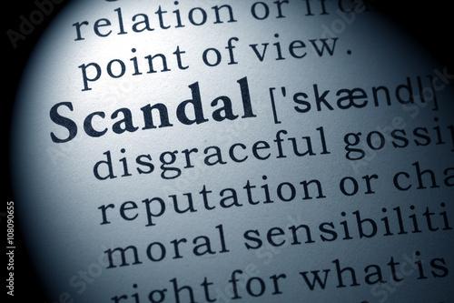 Fotografía  definition of scandal