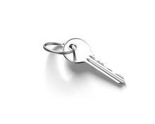 3D Silver Key
