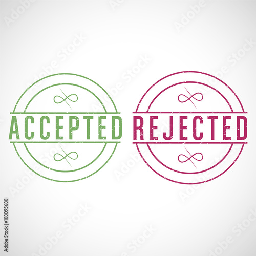 Fotografie, Obraz  bouton,accepted-rejected